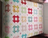 Oh Cherry Churn Dash Queen Size Quilt