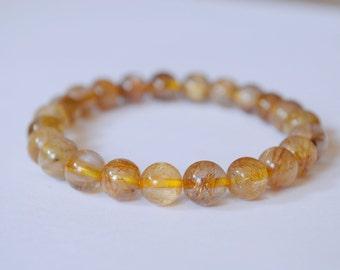 A Wonderful Golden Rutilated Quartz Bracelet