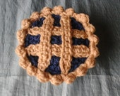 Crochet Blueberry Lattice Top Pie Catnip Toy Ready to Ship