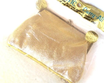 Vintage 1960s Gold Handbag Cosmetic Case New in Package