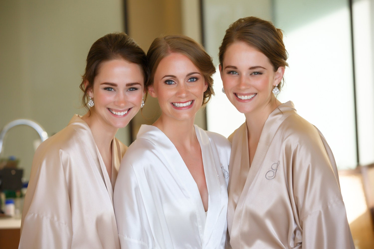 bridesmaid robes champagne wedding robes beige bridesmaid silk