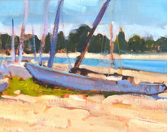 San Diego Sailboats - Landscape Painting