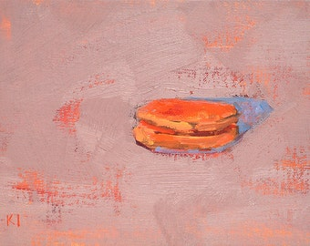 French Macaron Still Life Painting Oil