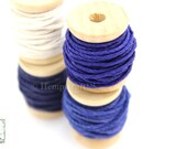Hemp Twine Mini Spools, Shades of Blue, High Quality 1mm Hemp Crafting Cord