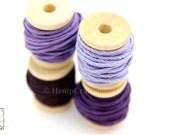 Hemp Twine Mini Spools, Shades of Purple, High Quality 1mm Hemp Crafting Cord
