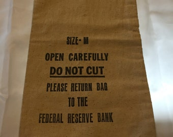Federal Reserve Canvas Bank Bag size M