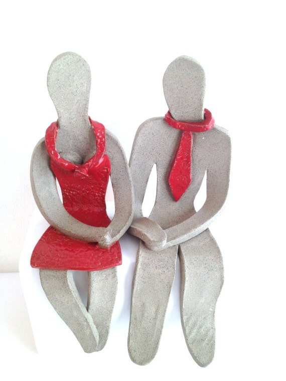 Wedding gifts for couple , Handmade Couple sculptures , Figure ...