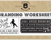 DIY BRAND DEVELOPMENT Worksheet - Soul Based Branding Branding - Creative Coaching - Brand Therapy