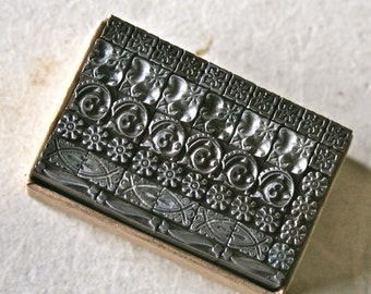 Letterpress Type Borders for Printing Stamping and Decor