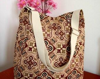 Crossbody Bag Quilted Interior Diaper Bag Messenger Travel Bag Shoulder Bag School Teacher Bag Travel bag Canvas Weekender Bag
