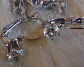 DIY 10pcs 5pairs x Silver Single Diamond Crystal Rhinestone Leverback Earrings Parts Earring Hooks Jewelry Making Supplies Findings