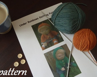 Pattern ~ Under Rainbows Knitting Patterns Full Set