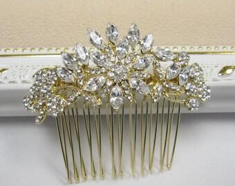 GOLD bridal hair comb GOLD wedding comb GOLD bridal accessory Gold wedding hair comb bridal hair jewelry wedding accessory bridal jewelry