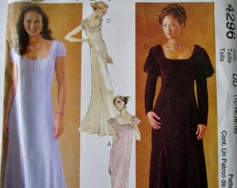 McCalls 4296 Evening Elegance Women's Lined Dress Sewing Pattern Bust 34 to 40