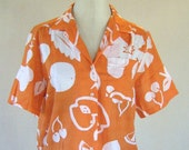 Orange Fruit Novelty Print Shirt Top