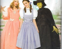 Simplicity 0624 WIZARD OF OZ Dorothy Glenda Wicked Witch Costume Pattern Size 6, 8, 10 and 12