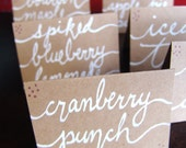 HAND LETTERED Signs - Wedding Table Signs - Dessert Table Signs - Wedding Table Decor - Dessert Table Decor - Custom Handwriting - TableTent