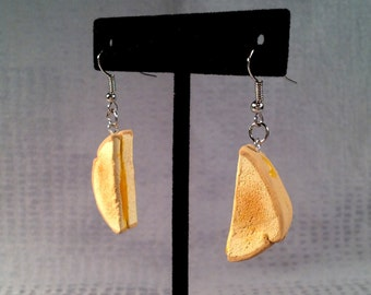 Grilled Cheese Earrings - Food Jewelry. Polymer clay