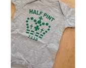 Half-Pint Baby Onesie, perfect for Mothers Day, Fathers Day, Baby Shower, Expectant Parent, Christmas Gift