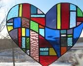 Colorful Heart Suncatcher