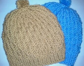 Knit Baby Hat, Knit Infant Cap, Knit Child Cap, Knit Child Hat