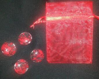 Blood Splatter Magnets - Set of 4 *Horror decor *Halloween