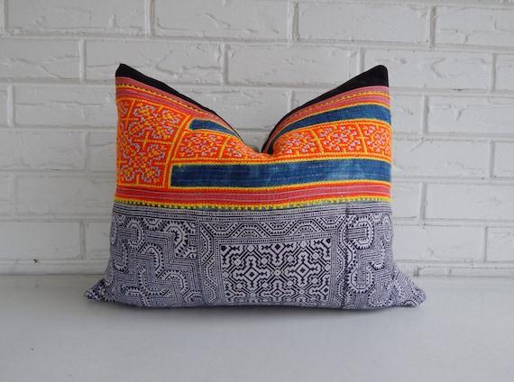 Tribal Pillow Cover Batik Throw Pillow by habitationBoheme