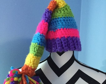 Rainbow Elf Hat