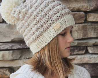 TWC Knit Winter Pom Hat- Wool Blend Made to Order
