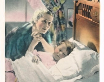 A Mothers Prayer Hand Tinted Photo Print