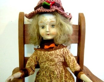 Vintage Porcelain Walda Doll Celebrating