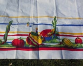Vintage Desert Themed Tablecloth, Primary Colors Tablecloth