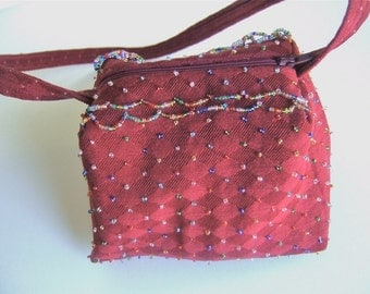Hand beaded Parlor purse