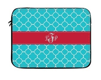 Personalized Laptop Sleeve- Design your Own Laptop Sleeve- Monogram Laptop Sleeve, Monogram Laptop Case