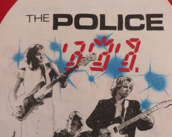 THE POLICE 1982 tour T SHIRT