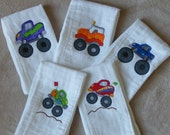 Personalized Monster Trucks Cloth Set