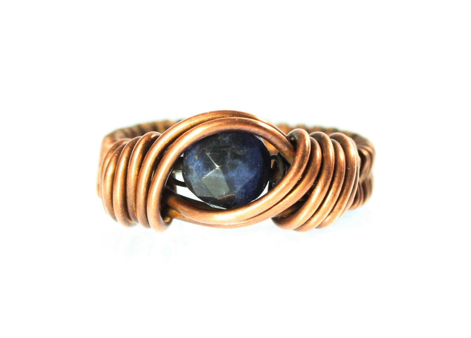 size 6 1 2 copper wire ring wire wrapped jewelry