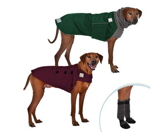 RHODESIAN RIDGEBACK Cold Climate Special, Dog Winter Coat, Waterproof Dog Coat, Dog Sweater,  Fleece Sweater, Dog Booties, Dog Clothes