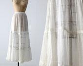 Victorian petticoat, antique white skirt