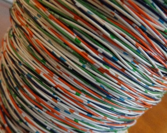 Vintage Pliable Multi-Colored 6 Stranded Wire, 1 Yard, Great for crafting Make words, Bracelets, Hangers for Ornaments, Convo custom listing