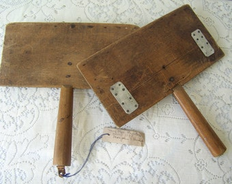 Antique Wool Card Paddles Hand Carders Primitive Wool Combs Card Paddles Spinning Wool Vintage Tools 1800s