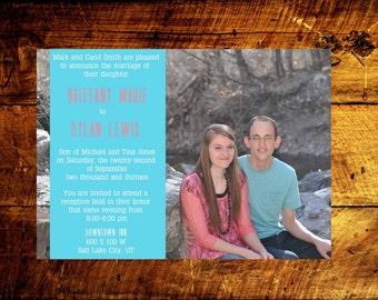 photo wedding invitations, modern wedding invitations, wedding invitations, wedding invites, rustic wedding ivnitations