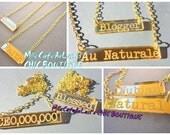 EXCLUSIVE Laser Engraved Handstamp Bar Necklace- SAY WHAT Necklaces