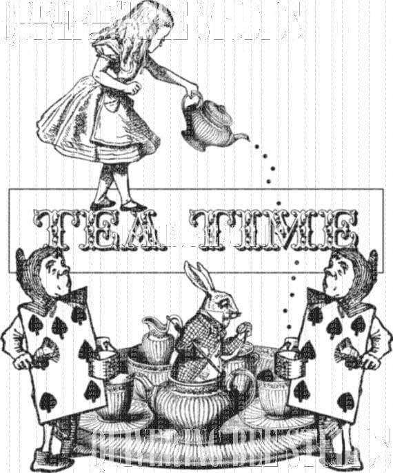 Alice In Wonderland Digital Download Fabric Transfer Iron On