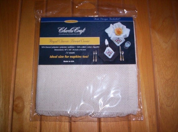 Charles craft royal classic bread cover oatmeal 14 by for Charles craft cross stitch fabric