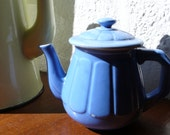 French vintage teapot,  blue , coffee, drinkware,  bistro, france, house accessories by ancienesthetique