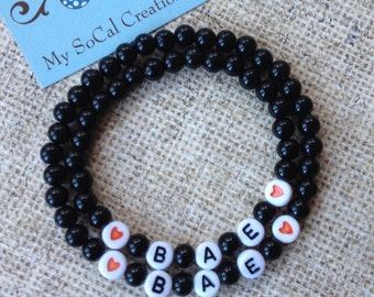 Couples Bracelet Set-BAE-Couples Gift-Personalized Bracelet Set