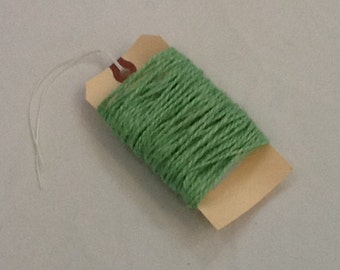 Apple Green Burlap Jute Twine, 32 feet, use for Gift Wrapping, Favors, Party, Wedding, Shower Decor, DIY, Crafting