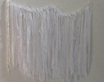 Lace Garland, Shabby and Chic, Rustic Glam, Romantic, Boho Chic, Use for Wedding, Shower, Party, Home Decor, READY to SHIP