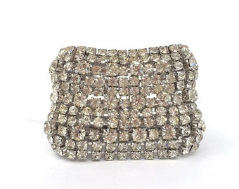 Rhinestone Cuff Bracelet by Kramer of New York